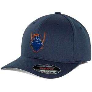 UVA Flexfit Hat in Navy with Cavalier Logo