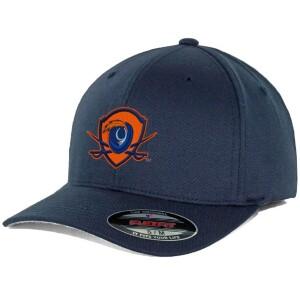 UVA Flexfit Hat in Navy with Shield Logo