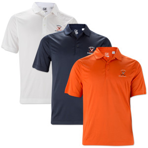 UVA Cutter & Buck Classic Drytec Basketball Polo