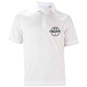 UVA Basketball 3-Point Dry-Fit Polo
