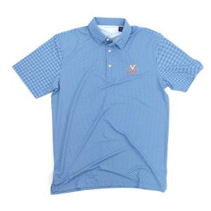 University of Virginia ECOTEC Gingham Polo