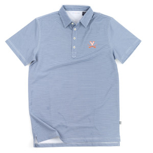 University of Virginia LUXTEC Stretch Jersey Stripe Polo