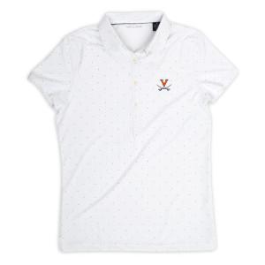 University of Virginia ECOTEC Dual Dot Print Ladies Polo