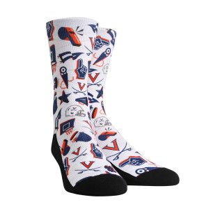 University of Virginia Cavaliers Athletic Icon Adult Socks