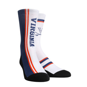 University of Virginia Cavaliers Jersey Series White Adult Socks