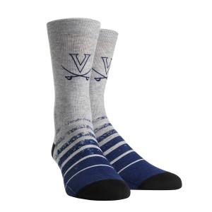 University of Virginia Cavaliers Vintage Heather Adult Socks