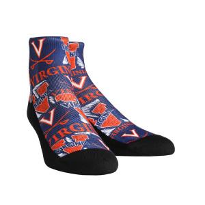 University of Virginia Cavaliers Logo Sketch Adult Socks