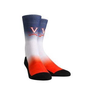 University of Virginia Cavaliers Dip Dye Adult Womans Socks