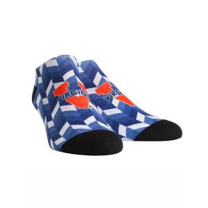 University of Virginia Cavaliers Gradient Tile Adult Womans Low Cut Socks