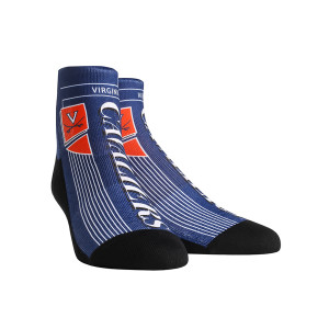 University of Virginia Cavaliers Vintage Layout Adult Socks