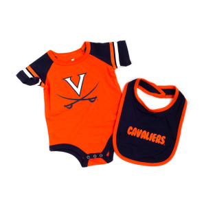 University of Virginia 2018 Infant Roll-Out Onesie & Bib Set