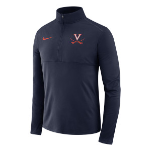 University of Virginia Nike Navy Quarter-Zip Pullover Jacket