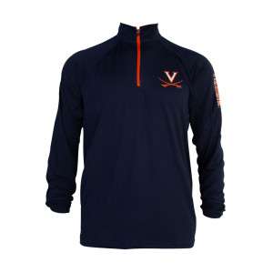 University of Virginia Quarter-Zip Navy Pullover