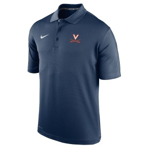 UVA Navy Varsity Polo with V-Sabre Logo