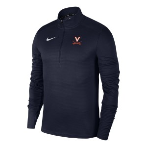 UVA Navy Pacer Quarter Zip with V-Sabre Logo