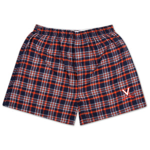 UVA Empire Plaid Flannel Boxer