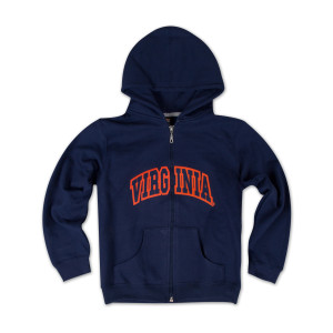 UVA Youth Arch Full Zip Hoody