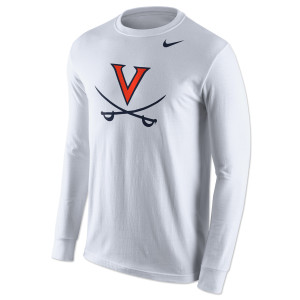 UVA Nike Logo Cotton LS T-Shirt