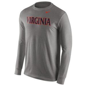 UVA NIKE Wordmark LS Cotton T-Shirt
