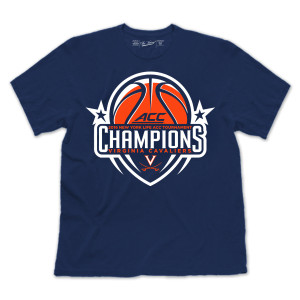 Youth UVA 2015 ACC Men's Basketball Back-to-Back Champions T-Shirt