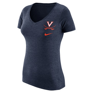 UVA Ladies Triblend Vneck T-shirt