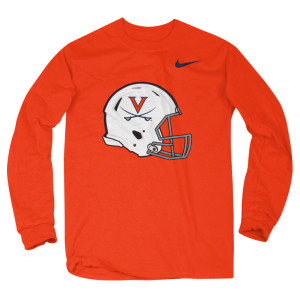 University of Virginia Football Helmet Long-Sleeve T-shirt
