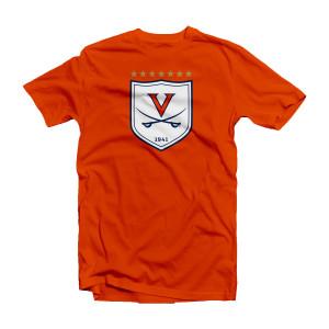 University of Virginia Soccer 7-star Shield Youth T-shirt