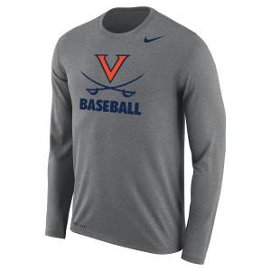 University of Virginia Baseball Dri-Fit LS T-shirt