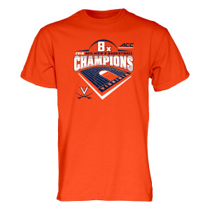 University of Virginia 2018 8x ACC Champions T-shirt