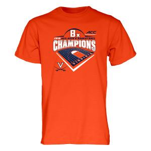 University of Virginia 2018 8x ACC Champions T-shirt