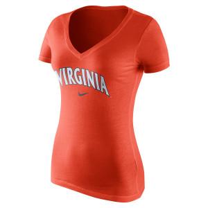 University of Virginia Nike Ladies Mid-V neck Short Sleeve Shirt