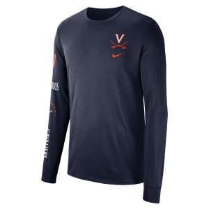 University of Virginia 2018 Nike Navy Basketball T-shirt
