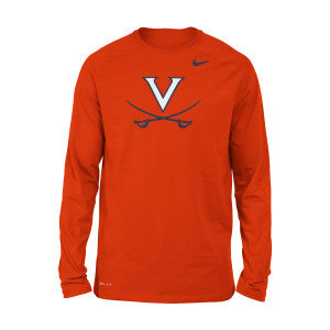University of Virginia 2018 Nike Orange Dri-FIT Long Sleeve T-shirt