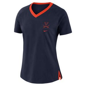University of Virginia 2018 Nike Ladies Navy Tri-Blend T-shirt