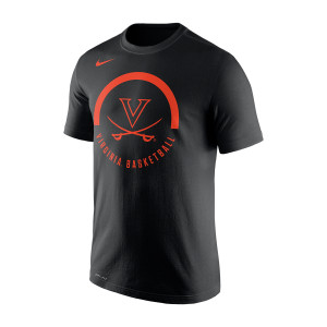 University of Virginia Black Nike Basketball T-shirt
