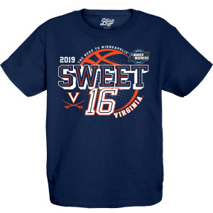 University of Virginia 2019 Youth Navy Sweet Sixteen T-shirt