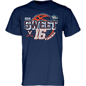 University of Virginia 2019 Navy Sweet Sixteen T-shirt
