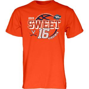 University of Virginia 2019 Orange Sweet Sixteen T-shirt