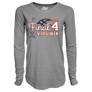 Virginia Basketball 2019 Final Four Ladies Long Sleeve Tri-Blend T-shirt