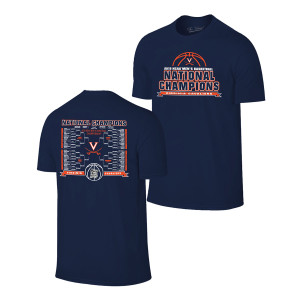 2019 National Champions Bracket T-shirt - Navy