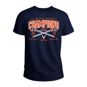 University of Virginia 2019 ACC Men's Lacrosse Champions Navy T-shirt