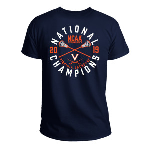 2019 Lacrosse National Champs Navy T-shirt