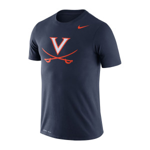 University of Virginia Nike Navy Dri-fit Legend V-Sabre T-Shirt