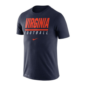 University of Virginia Nike Navy Dri-fit Football T-Shirt