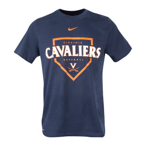 Virginia NIKE Dri-Fit Baseball Home Plate T-shirt