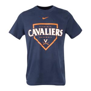 Virginia NIKE Dri-Fit Baseball Home Plate T-shirt