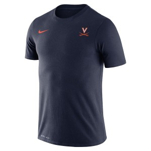 University of Virginia Nike SS Legend Small Logo Navy T-shirt