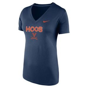 University of Virginia V-sabre HOOS Ladies V-neck T-shirt