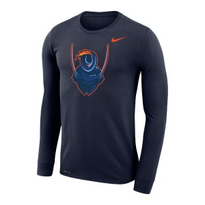 University of Virginia 2020 Cavalier Dri-FIT Legend Navy Long Sleeve T-shirt