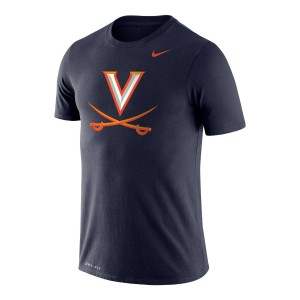 UVA V-Sabre Dri-FIT Performance  Legend Navy T-shirt
